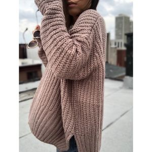🆕Ziggy Mocha Oversized Slouchy Sweater